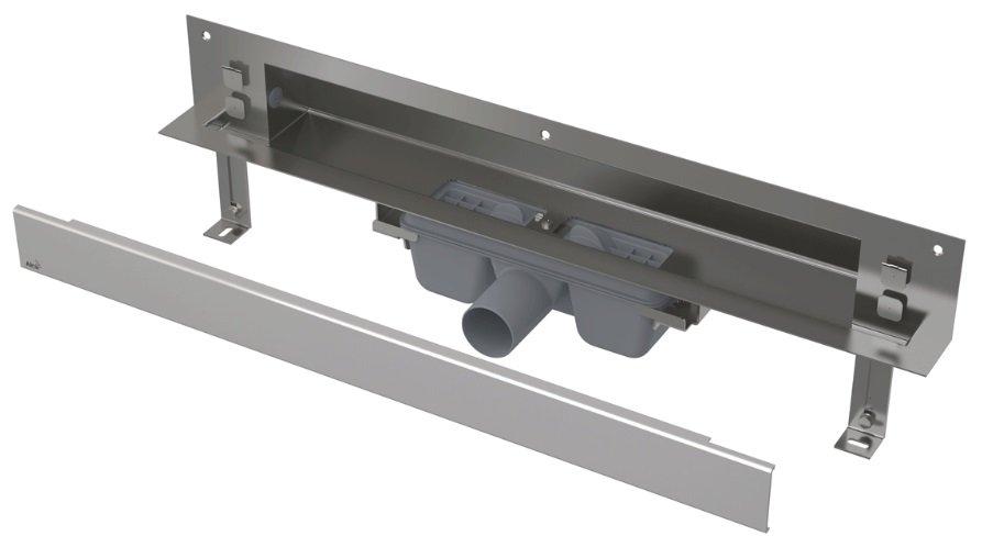 APZ5-EDEN-650 podlahový nerezový žlab AlcaPlast SPA kryt EDEN 700 mm bez okraje, lesk 0
