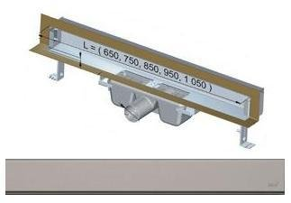 APZ5-SHADE-850 podlahový nerezový žlab AlcaPlast SPA kryt SHADE 900 mm bez okraje, mat 1