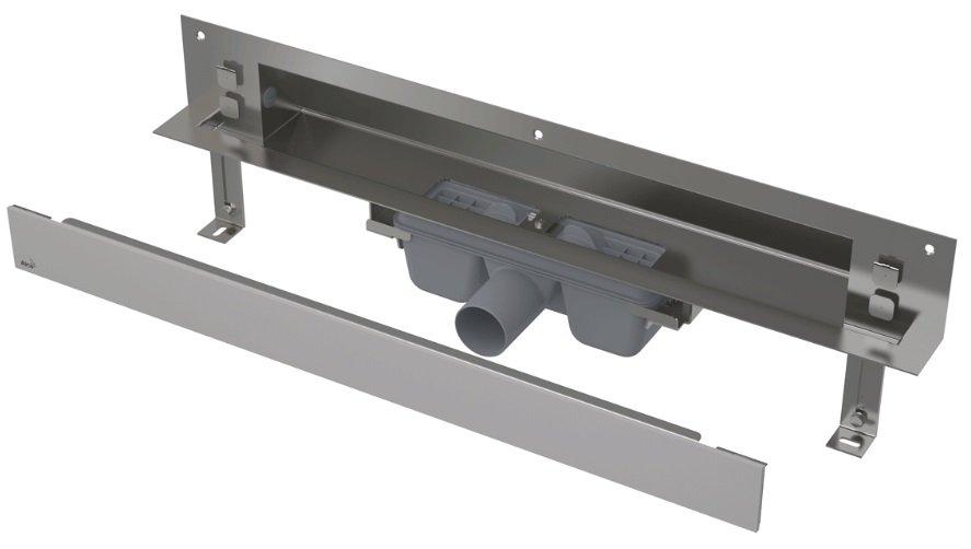 APZ5-SHADE-650 podlahový nerezový žlab AlcaPlast SPA kryt SHADE 700 mm bez okraje, mat 0