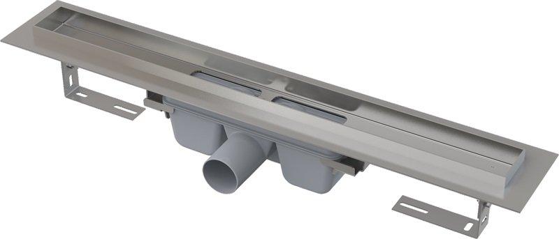 APZ6-1050 podlahový nerezový žlab AlcaPlast 1100 mm s okrajem 0