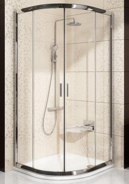 Sprchový kout čtvrtkruhový BLCP4-90 Transparent Ravak BLIX, bílá 1