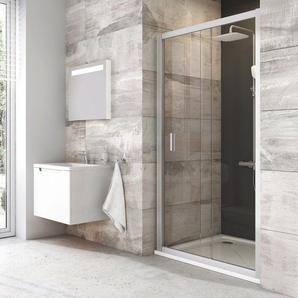 Sprchové dveře posuvné BLDP2-100 Transparent Ravak BLIX, lesklá 0