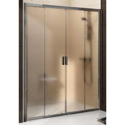 Sprchové dveře posuvné čtyřdílné BLDP4-150 Transparent Ravak BLIX, lesk 1