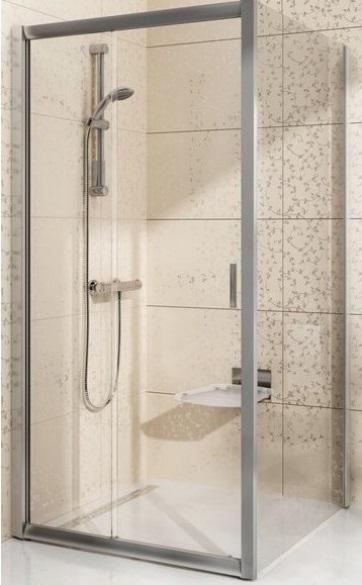 Pevná sprchová stěna BLPS-80 Transparent Ravak BLIX, satin 1