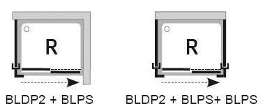 Pevná sprchová stěna BLPS-90 Grape Ravak BLIX, bílá 2