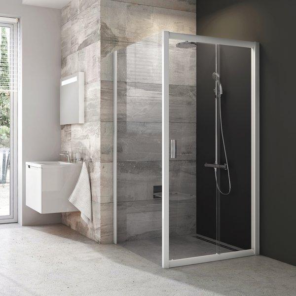 Pevná sprchová stěna BLPS-100 Transparent Ravak BLIX, bílá 0