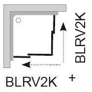 Sprchové dveře BLRV2K-110 se vstupem z rohu Transparent Ravak BLIX, bílá 2