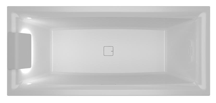 Vana klasická Riho STILL SQUARE LED R 170x75, bílá 0