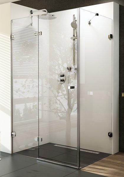 Sprchové dveře dvojdílné s pevnou stěnou BSDPS-110/80 L Ravak BRILLIANT, neobsahuje B-Set, chrom 1