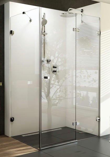 Sprchové dveře dvojdílné s pevnou stěnou BSDPS-110/80 R Ravak BRILLIANT, neobsahuje B-Set, chrom 1