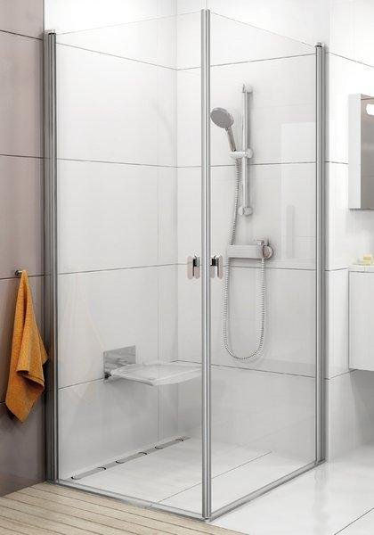 Sprchové dveře CRV1-80 se vstupem z rohu Transparent Ravak CHROME, satin 1