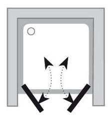 Sprchové dveře dvoudílné CSDL2-110 Transparent Ravak CHROME, satin 2