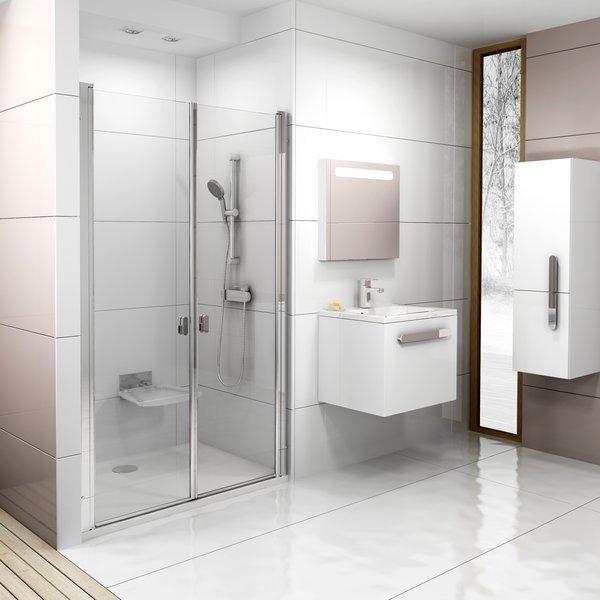 Sprchové dveře dvoudílné CSDL2-100 Ravak CHROME 0