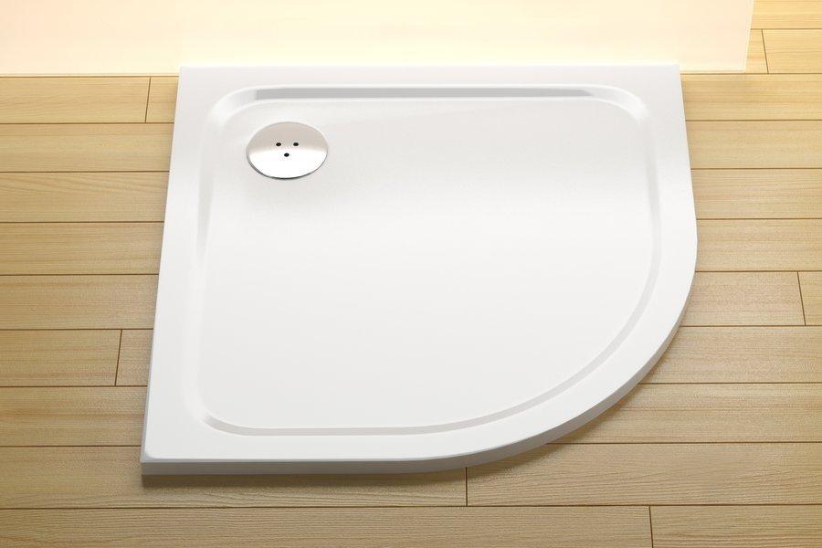 Sprchová vanička čtvrtkruhová ELIPSO PRO-80 Ravak CHROME, bílá 0