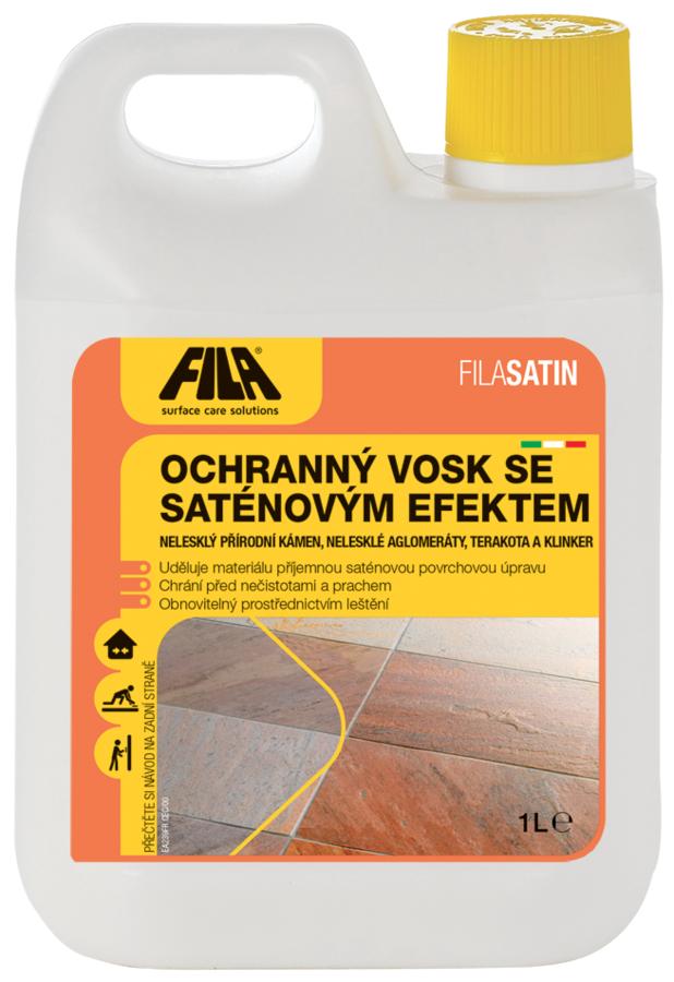 Ochranný vosk Fila SATIN se saténovým efektem 1 litr 1
