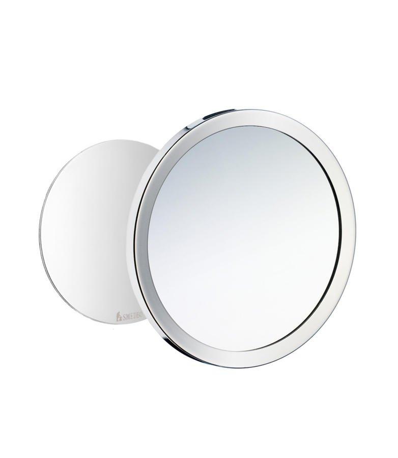 Kosmetické zrcátko Smedbo OUTLINE nástěnné, nalepovací, chrom - AKCE 0