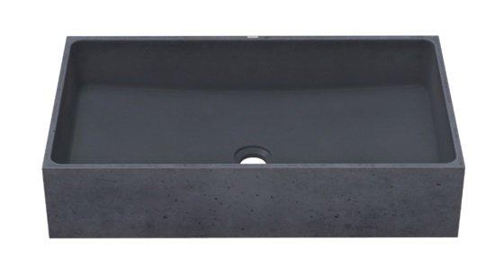 Gravelli umyvadlo BOX SINGLE antracit 64x36,5x14cm 0