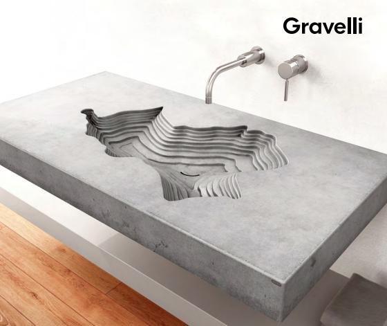 Gravelli umyvadlo MAP písková 120x60x10cm 1