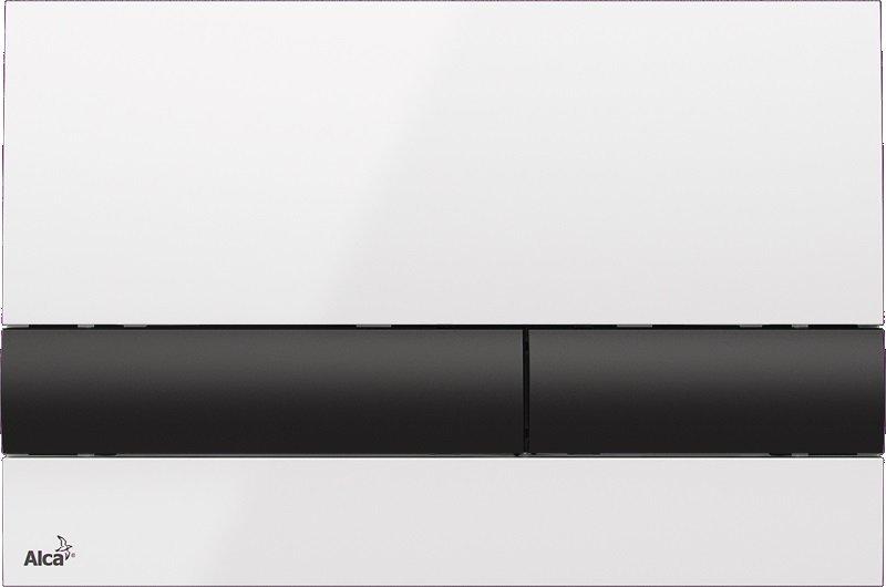 Ovládací tlačítko pro splachování M1710-8 AlcaPlast pro předstěnové instalační systémy, bílá/černá 0