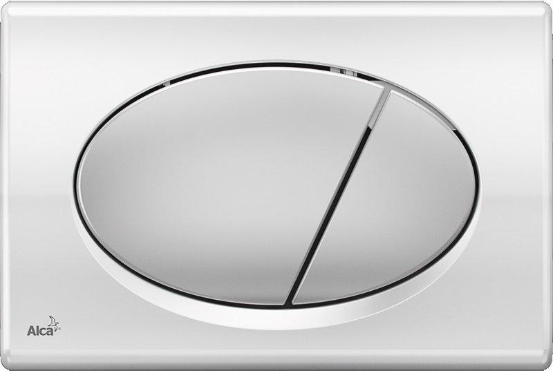 Ovládací tlačítko M73 AlcaPlast pro předstěnové instalační systémy, chrom-lesk/mat 0