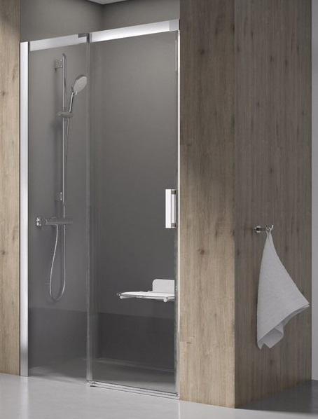 Sprchové dveře dvoudílné MSD2-120 L Transparent Ravak MATRIX, levé, bílá