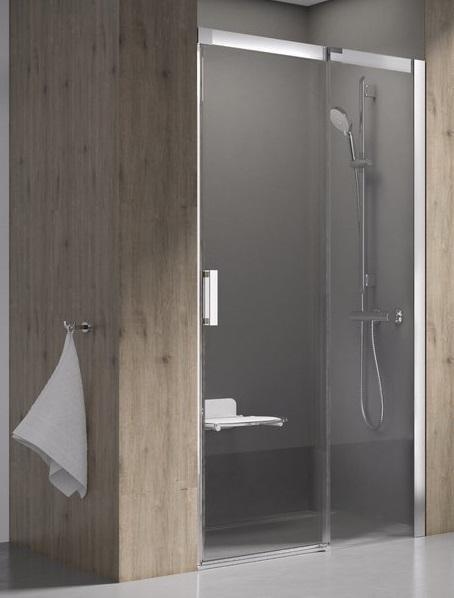 Sprchové dveře dvoudílné MSD2-100 R Transparent Ravak MATRIX, pravé, chrom