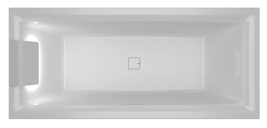 Vana klasická Riho STILL SQUARE LED R 170x75, bílá 1
