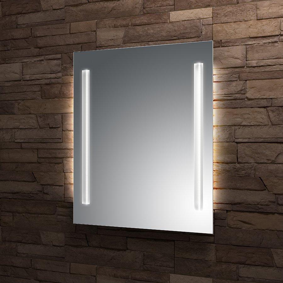 Zrcadlo 50x70 cm Santech Allianz STRIPE LED osvětlení, bez vypínače, boční osvětlení 0