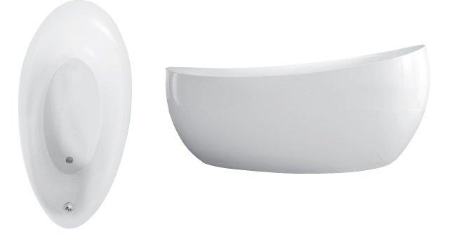 Vana Villeroy & Boch Aveo New Generation, volně stojící, 1900 x 950 mm, včetně výpusti a přepadu, bílá 0