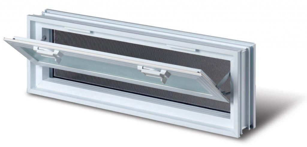 Plastové větrací okno 57x19 cm 0
