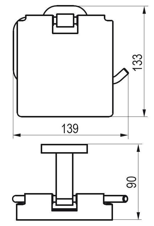 Držák na WC papír CR 400.00 Ravak CHROME, chrom 2