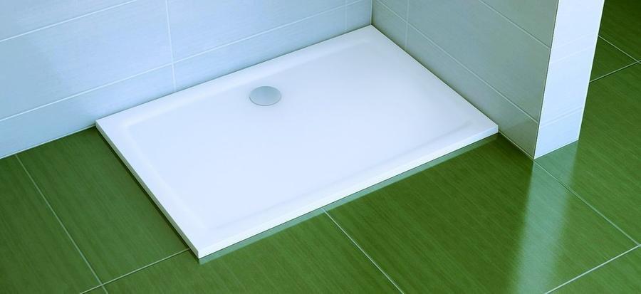 Sprchová vanička litá GIGANT PRO 120 x 90 Flat Ravak, bílá 1