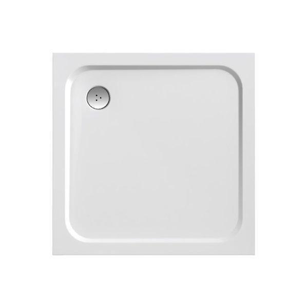 Sprchová vanička čtvercová PERSEUS PRO-100 Ravak CHROME, bílá