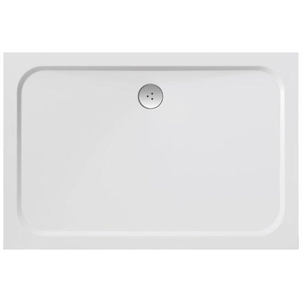 Sprchová vanička obdélníková GIGANT PRO 110 x 80 Ravak CHROME, bílá 1