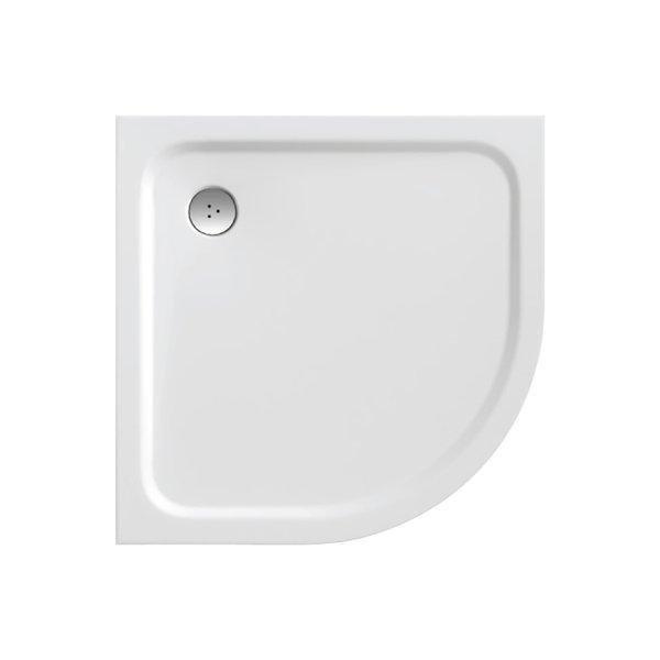 Sprchová vanička čtvrtkruhová ELIPSO PRO-80 Ravak CHROME, bílá 1