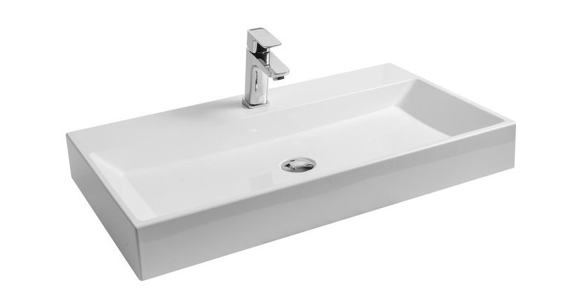 Umyvadlo 80 x 45 cm Ravak NATURAL 800, bez přepadu, bílá 0