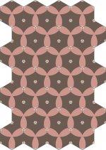 Dlažba KERAMAR light grey hexagon 60x60, rett