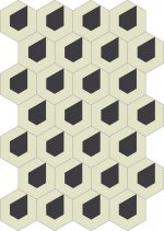 Dlažba KERAMAR light grey hexagon 60x60, rett