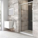 Sprchové dveře posuvné BLDP2-110 Transparent Ravak BLIX, bílá