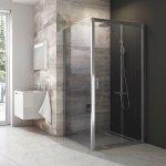 Pevná sprchová stěna BLPS-80 Transparent Ravak BLIX, lesklá