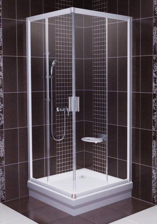 Sprchový kout rohový BLRV2-80 Transparent Ravak BLIX, satin preview
