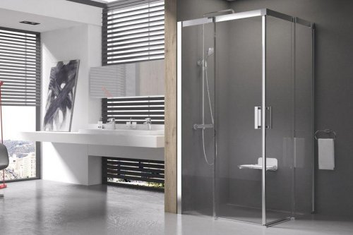 Sprchový kout čtyřdílný MSRV4-100/100 Transparent Ravak MATRIX, bílá preview
