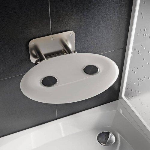 Sprchové sedátko Ravak OVO P II Opal, nerez/průsvitně bílá preview