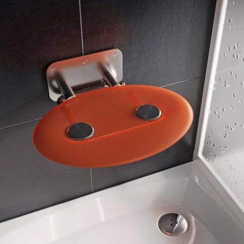 Sprchové sedátko Ravak OVO P II Orange, nerez/oranžová preview