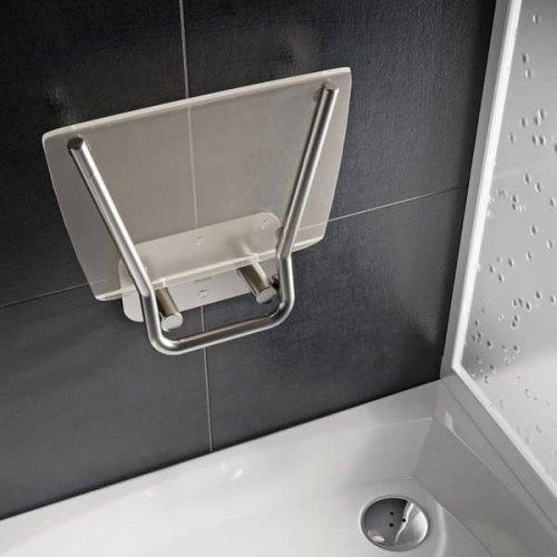 Sprchové sedátko Ravak OVO B II Opal, nerez/průsvitně bílá preview