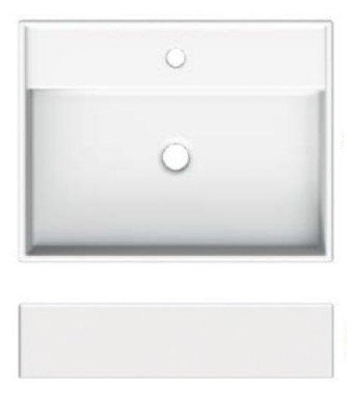 Umyvadlo na desku/stěnu, 60x46cm, Scarabeo TEOREMA 2.0 60R, bílé preview