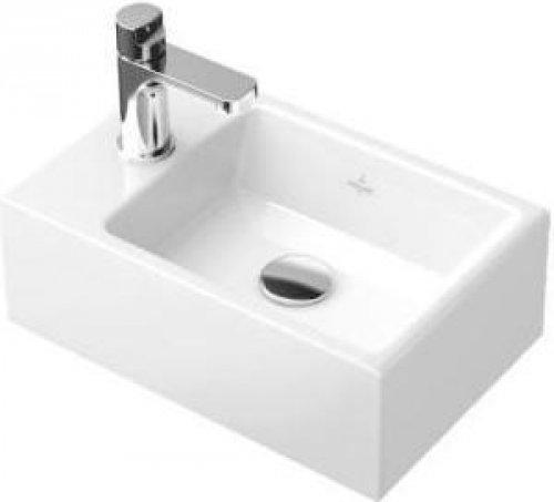 V&B Memento, Umývátko 400x260 mm, s otvorem pr obaterii vpravo, bez přepadu, Bílá Alpin Ceramicplus preview