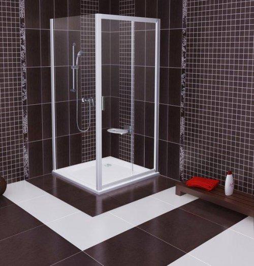 Pevná sprchová stěna BLPS-100 Transparent Ravak BLIX, bílá preview