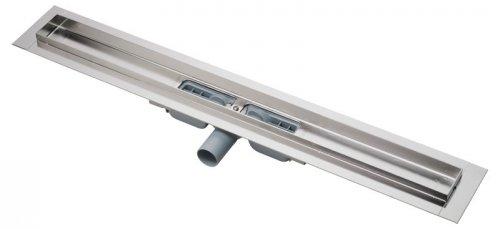 Podlahový žlab nerez APZ106-1050 AlcaPlast snížený, 1100 mm, s okrajem preview