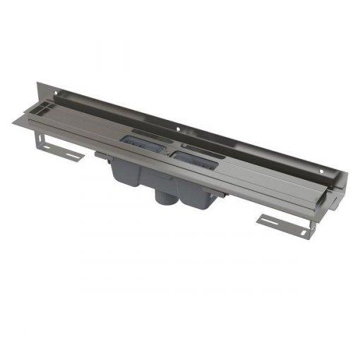 Podlahový žlab AlcaPlast FLEXIBLE APZ1004-1150 s okrajem, s límcem, svislý odtok preview